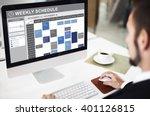 weekly schedule to do list... | Shutterstock . vector #401126815