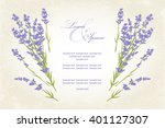 thank you card with purple... | Shutterstock .eps vector #401127307