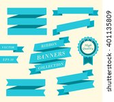 ribbon banners. collection of... | Shutterstock .eps vector #401135809