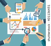 finance report concept.... | Shutterstock .eps vector #401136451