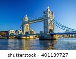 tower bridge in london  uk with ... | Shutterstock . vector #401139727