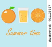 summer time. orange freshess | Shutterstock .eps vector #401139937
