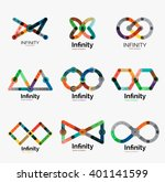 vector infinity logo set  flat...   Shutterstock .eps vector #401141599