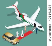 Private Jet Airplane. Two Arab...