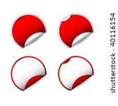 set of blank label stickers for ...   Shutterstock . vector #40116154