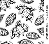 vector seamless food pattern of ... | Shutterstock .eps vector #401165101