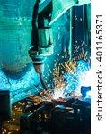 welding robots movement in a... | Shutterstock . vector #401165371