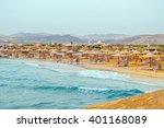 beach in resort in marsa alam ... | Shutterstock . vector #401168089