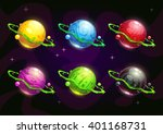 funny colorful fantasy planets...