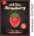Vintage Farm Fresh Strawberry...