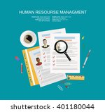 picture of printed cvs and... | Shutterstock .eps vector #401180044