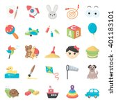 toys icons set. | Shutterstock .eps vector #401183101