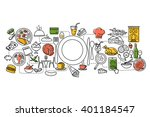 vector illustration of flat... | Shutterstock .eps vector #401184547