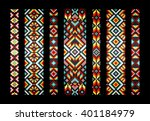 trendy  contemporary ethnic... | Shutterstock .eps vector #401184979