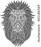 tribal styled tattoo pattern in ... | Shutterstock .eps vector #401186569