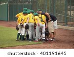baseball team in a huddle  | Shutterstock . vector #401191645