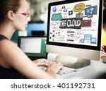 technology the cloud online...   Shutterstock . vector #401192731