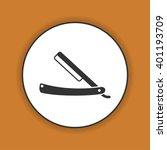 retro razor icon. flat design... | Shutterstock . vector #401193709