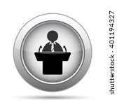 speaker icon. internet button... | Shutterstock . vector #401194327