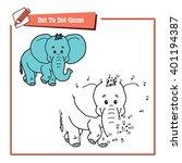 dot to dot  elephant... | Shutterstock .eps vector #401194387