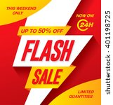 flash sale banner template... | Shutterstock .eps vector #401198725