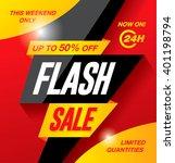 flash sale banner template... | Shutterstock .eps vector #401198794