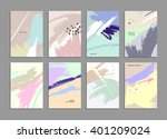 set of hand drawn universal... | Shutterstock .eps vector #401209024