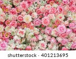 soft color roses background for ... | Shutterstock . vector #401213695