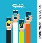 mobile technology design    Shutterstock .eps vector #401223421
