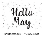 hello may inscription. greeting ... | Shutterstock .eps vector #401226235