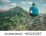 active sport man resting and... | Shutterstock . vector #401231287
