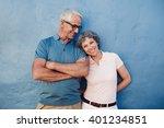 portrait of beautiful mature... | Shutterstock . vector #401234851