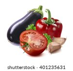 Eggplant  Red Bell Pepper ...