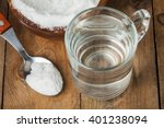 spoon of salt  sugar  soda with ... | Shutterstock . vector #401238094