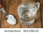 spoon of salt  sugar  soda with ... | Shutterstock . vector #401238124