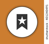 flat  icon web bookmark ribbon... | Shutterstock . vector #401240491