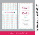 wedding invitation card with... | Shutterstock .eps vector #401247289