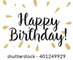 happy birthday inscription.... | Shutterstock .eps vector #401249929