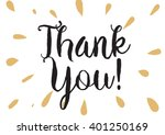 thank you inscription. greeting ... | Shutterstock .eps vector #401250169