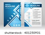 abstract vector modern flyers... | Shutterstock .eps vector #401250931