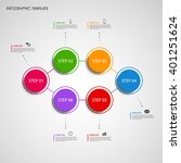 info graphic with colored... | Shutterstock .eps vector #401251624