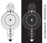 sacred geometry magic totem ... | Shutterstock .eps vector #401253121