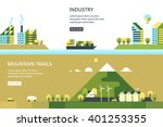 trucking sea. manufacturer... | Shutterstock .eps vector #401253355