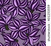 vector hand drawn floral... | Shutterstock .eps vector #401253559