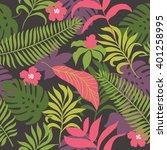 beautiful seamless tropical... | Shutterstock .eps vector #401258995