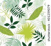 beautiful seamless tropical... | Shutterstock .eps vector #401259079