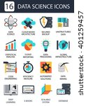 data science icons isolated on... | Shutterstock .eps vector #401259457