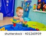 happy little boy is playing... | Shutterstock . vector #401260939