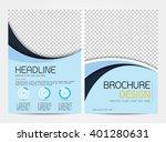brochure template flyer design...   Shutterstock .eps vector #401280631