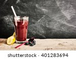 tall glass of delicious acai... | Shutterstock . vector #401283694